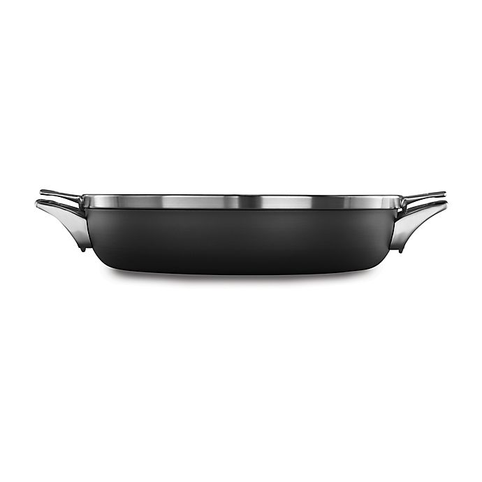 Alternate image 1 for Calphalon® Premier™ Space Saving Hard Anodized Nonstick 12-Inch Covered Everyday Pan