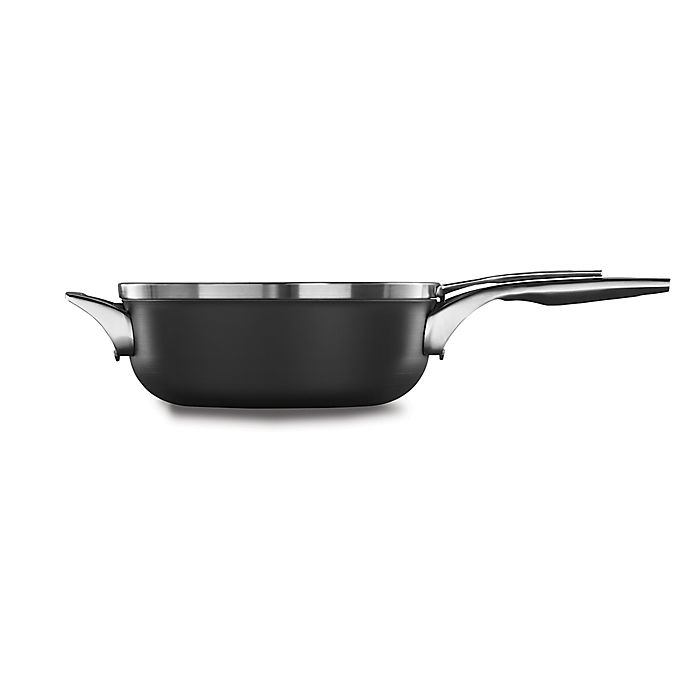 Alternate image 1 for Calphalon® Premier™ Space Saving Hard Anodized Nonstick 4 qt. Covered Chef's Pan