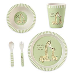 Precious Moments® Giraffe 5-Piece Child's Place Setting in Green