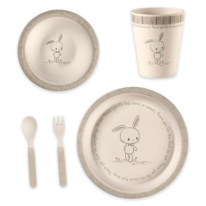 Alternate image 1 for Precious Moments® Bunny 5-Piece Child's Place Setting in Green