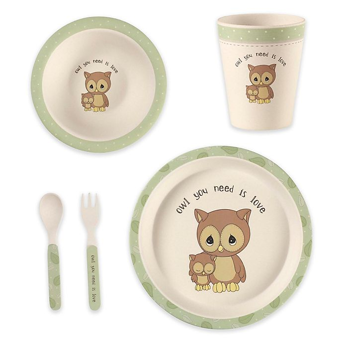 Alternate image 1 for Precious Moments® 5-Piece Owl Mealtime Gift Set