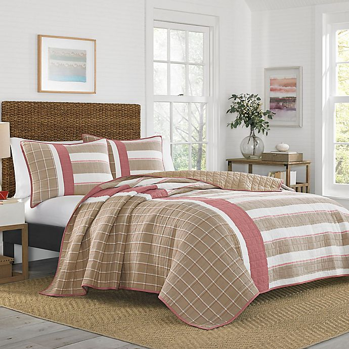 Alternate image 1 for Nautica® Crimstead Khaki/Red Quilt
