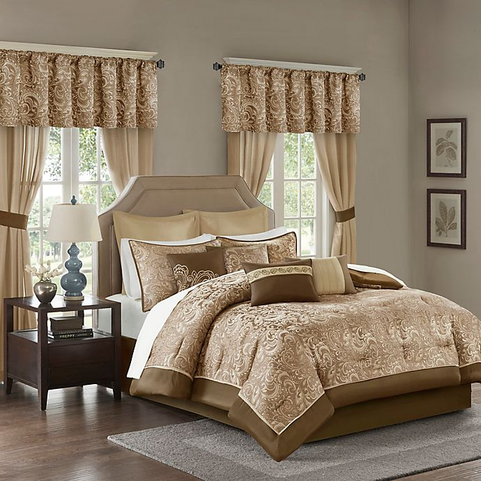 Alternate image 1 for Madison Park Essentials Brystol California King Comforter Set in Brown