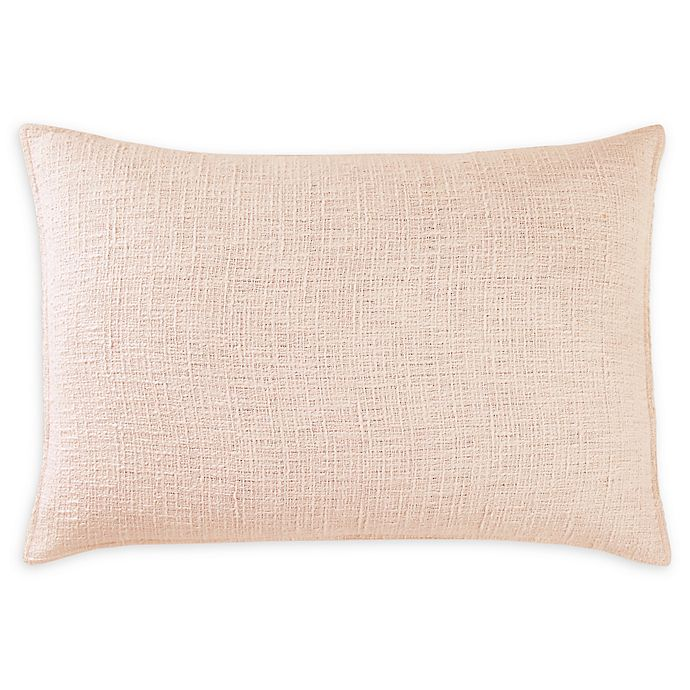 Alternate image 1 for DKNYpure® Texture Standard Pillow Sham in Blush