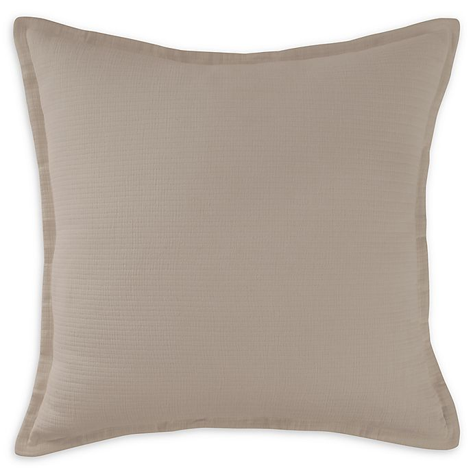 Alternate image 1 for DKNYpure® Texture Stonewash European Pillow Sham
