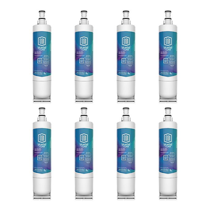 Alternate image 1 for Bluefall™ Whirlpool EDR5XD1 Compatible 8-Pack Replacement Refrigerator Water Filters