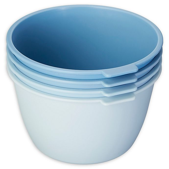 Alternate image 1 for SALT™ Stackable Microwave Bowls in Blue (Set of 4)