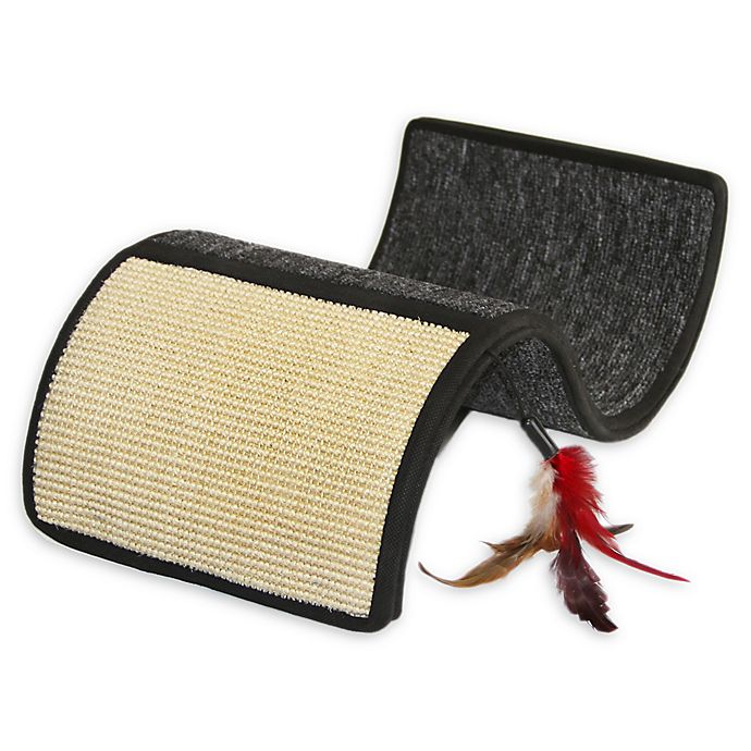Alternate image 1 for Sisal and Carpet Curvy Cat Scratcher in Grey