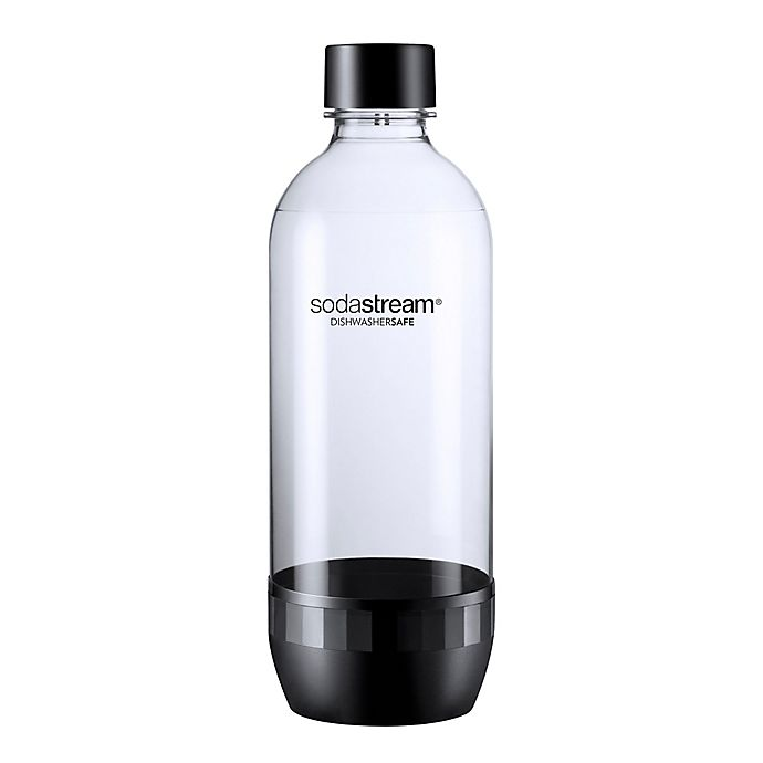 Alternate image 1 for SodaStream® Dishwasher Safe 2-Pack 1-Liter Carbonating Bottle in Black
