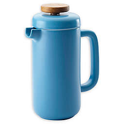 Bonjour® Coffee 8-Cup Coffee and Tea Ceramic French Press in Aqua