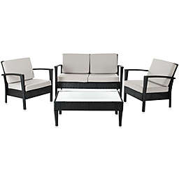 Safavieh Piscataway 4-Piece Conversation Set