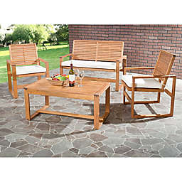 Safavieh Ozark 4-Piece Conversation Set in Natural