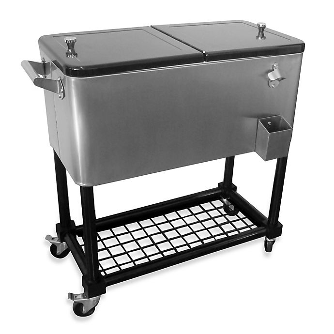 Alternate image 1 for 80-Quart Stainless Steel Cooler with Tray