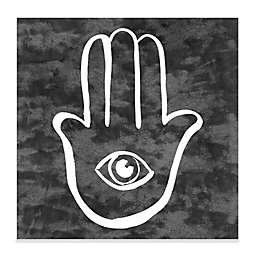 "Haus of Arte ""Hamsa"" 12-Inch Square Canvas Wall Art"