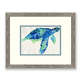 Sea Turtle I 17-Inch x 15-Inch Framed Wall Art
