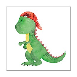 Designs Direct Cool Baby Dinosaur 16-Inch Square Canvas Wall Art