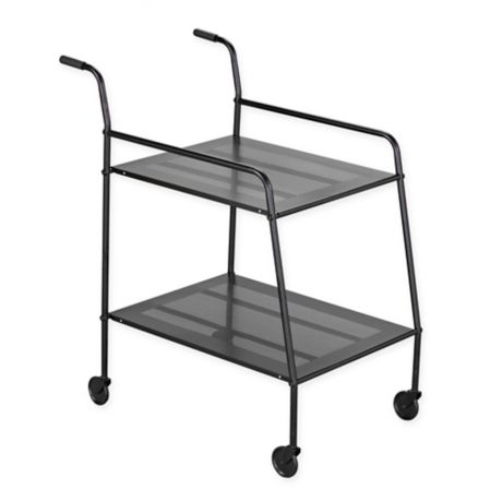 Southern Enterprises Hans Metal Bar Cart in Black