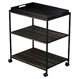 Southern Enterprises Sven Mobile Serving Cart with Tray in Black