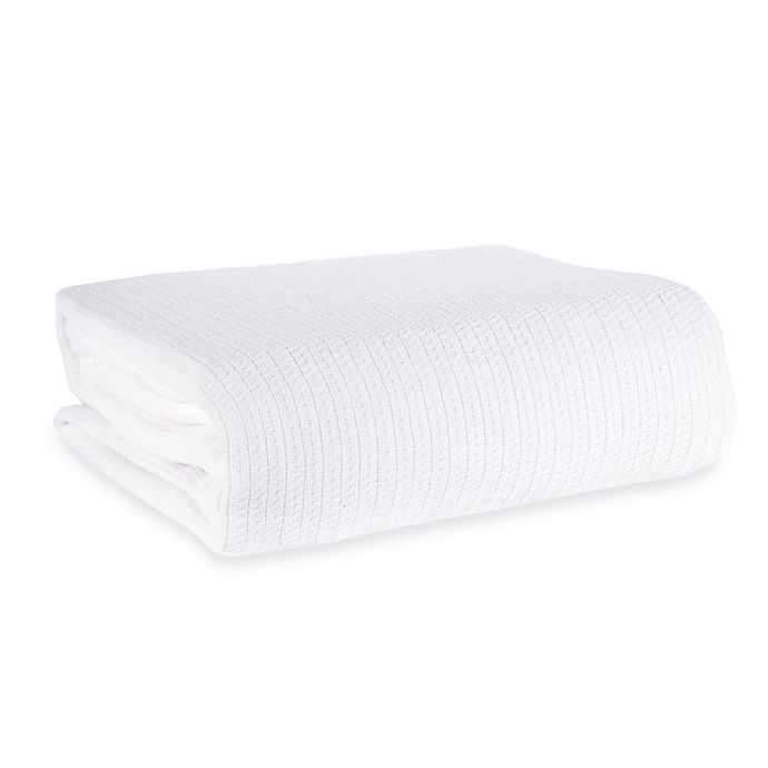 Alternate image 1 for Berkshire Blanket® Comfy Soft Twin Cotton Blanket in White