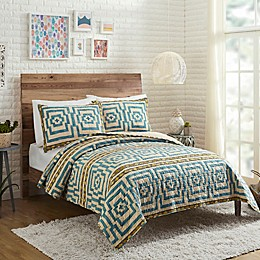 Justina Blakeney by Maker's Collective Hypnotic Quilt Set in Blue