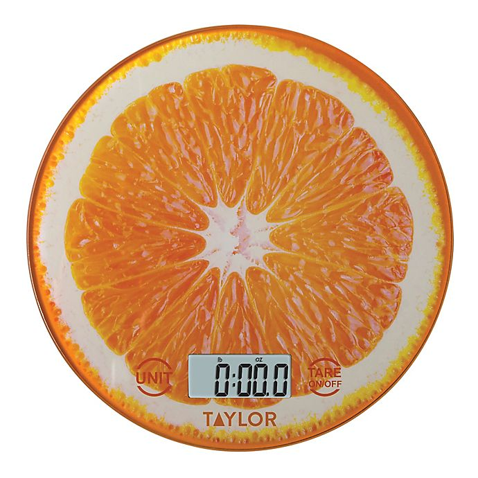 Alternate image 1 for Taylor® Digital Kitchen Scale in Orange