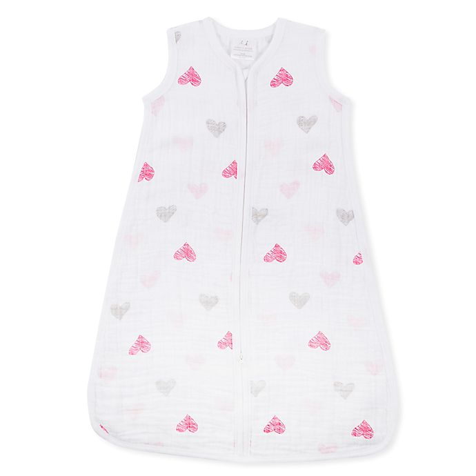 Alternate image 1 for aden® by aden + anais® Lovebird Muslin Classic Wearable Blanket in Pink