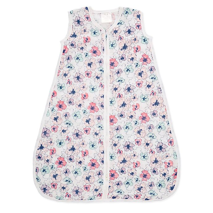 Alternate image 1 for aden® by aden + anais® Small Floral Blooms Muslin Wearable Blanket