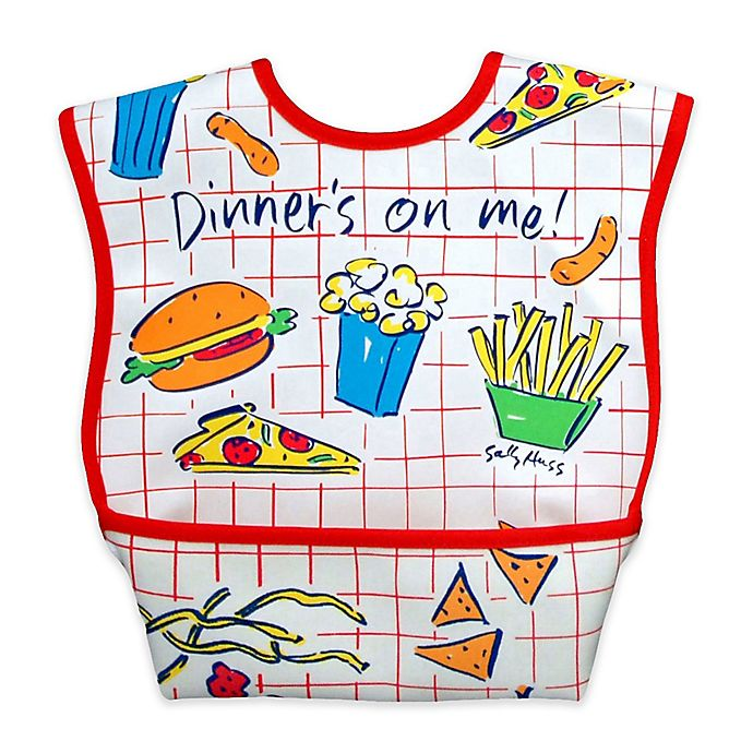 Alternate image 1 for DexBaby Large Dinner Waterproof Big Mouth Dura-Bib in White