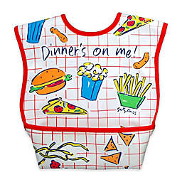 DexBaby Large Dinner Waterproof Big Mouth Dura-Bib in White