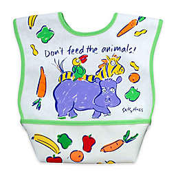 DexBaby Large Animals Waterproof Big Mouth Dura-Bib in White