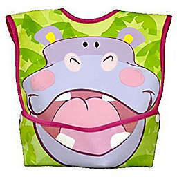 DexBaby Large Hippo Waterproof Big Mouth Dura-Bib in White