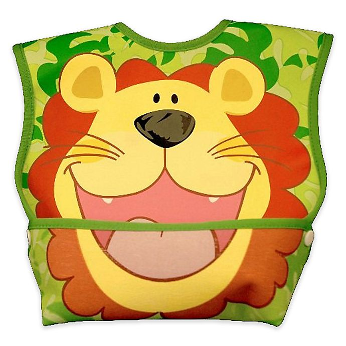 Alternate image 1 for DexBaby Large Lion Waterproof Big Mouth Dura-Bib in White