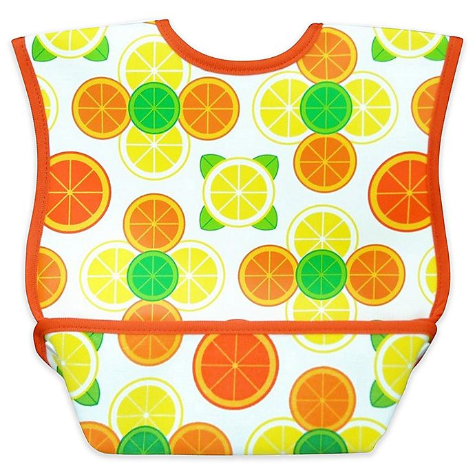 Alternate image 1 for DexBaby Large Fruit Waterproof Big Mouth Dura-Bib in White