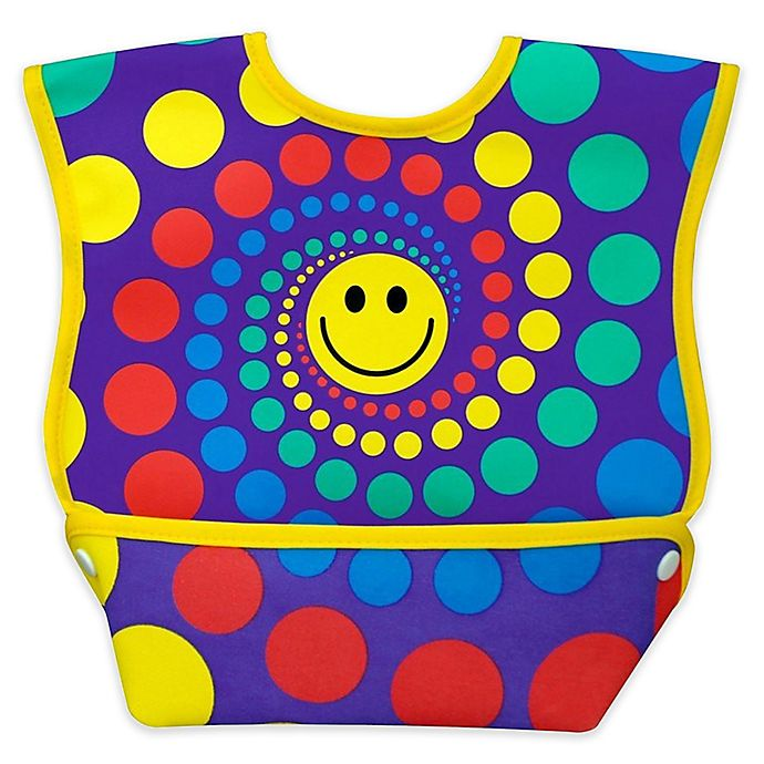 Alternate image 1 for DexBaby Large Happy Waterproof Big Mouth Dura-Bib in White