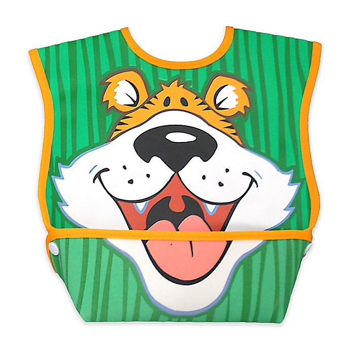 Alternate image 1 for DexBaby Large Tiger Waterproof Big Mouth Dura-Bib in White