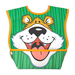 DexBaby Large Tiger Waterproof Big Mouth Dura-Bib in White