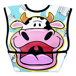 DexBaby Large Cow Waterproof Big Mouth Dura-Bib in White