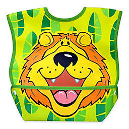 DexBaby Large Lively Lion Waterproof Big Mouth Dura-Bib in White