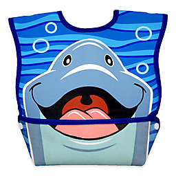 DexBaby Large Dolphin Waterproof Big Mouth Dura-Bib in White