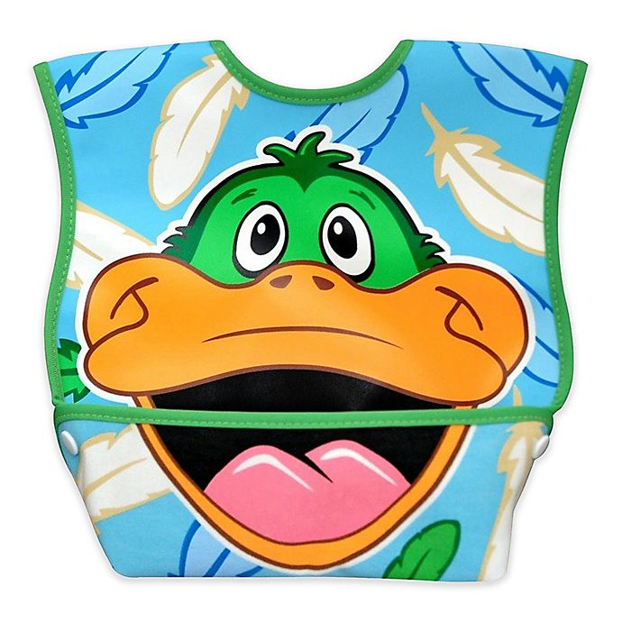 Alternate image 1 for DexBaby Large Duck Waterproof Big Mouth Dura-Bib in White