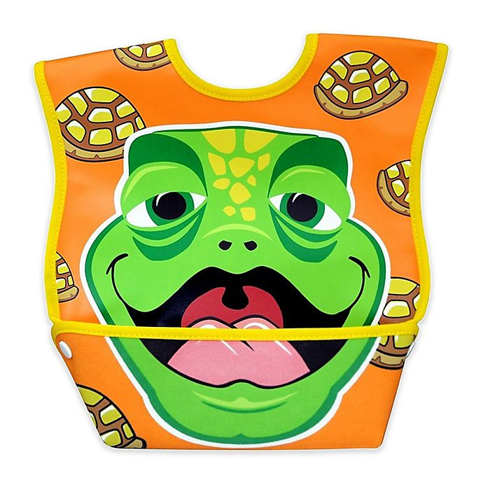 Alternate image 1 for DexBaby Large Turtle Waterproof Big Mouth Dura-Bib in White