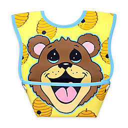 DexBaby Small Bear Waterproof Big Mouth Dura-Bib in White