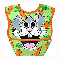 DexBaby Small Rabbit Waterproof Big Mouth Dura-Bib in White