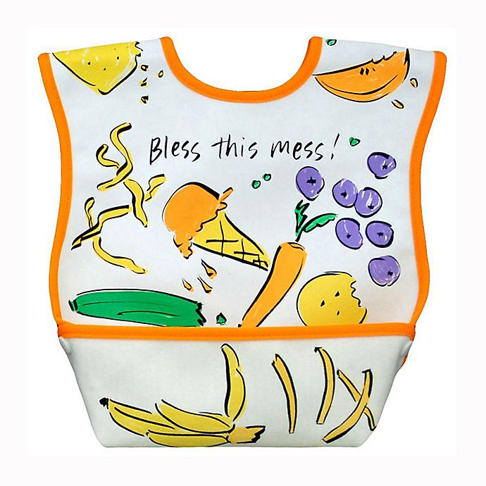Alternate image 1 for DexBaby Large Lunch Waterproof Big Mouth Dura-Bib in White