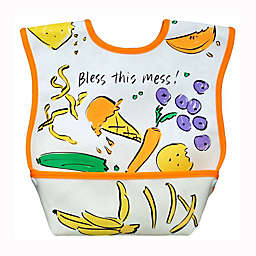 DexBaby Large Lunch Waterproof Big Mouth Dura-Bib in White