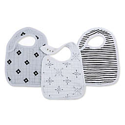 aden + anais® 3-Pack Lovestruck Classic Muslin Snap Bibs in Grey