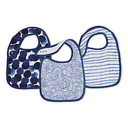 aden + adais® 3-Pack Seafaring Muslin Snap Bibs in Blue