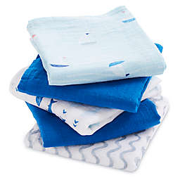 aden® by aden + anais® Making Waves 5-Pack Muslin Squares in Blue