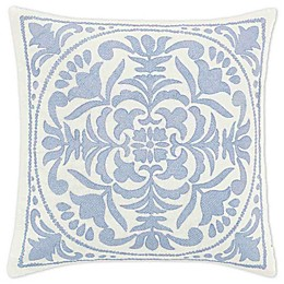 Laura Ashley® Mila Blue Embroidered Medallion Throw Pillow