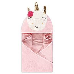 Little Treasure Unicorn Hooded Towel in Pink